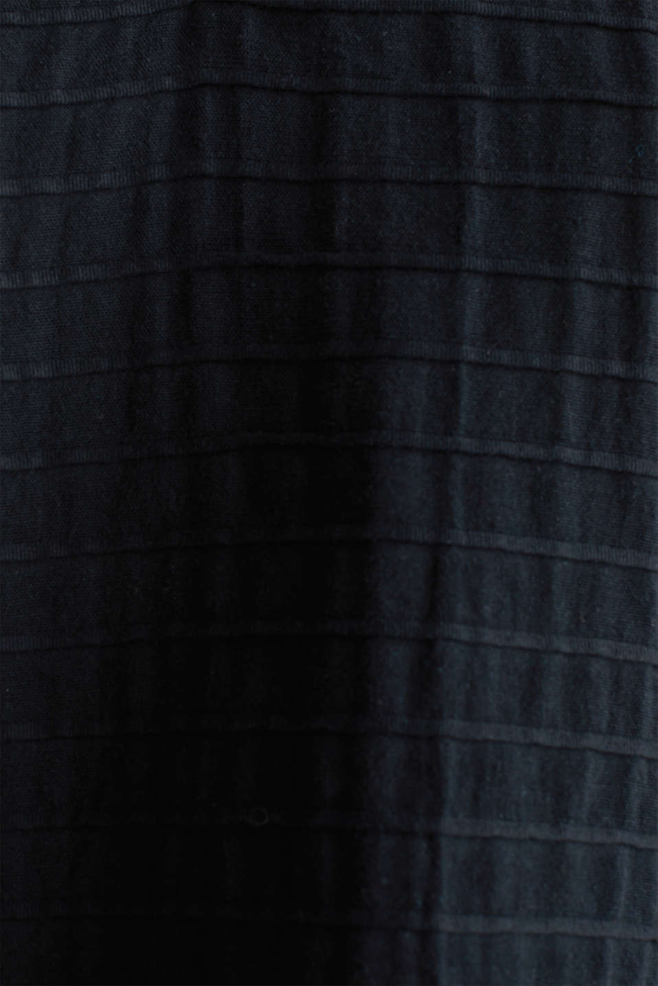 Boxy blouse made of 100% organic cotton, BLACK, detail image number 4