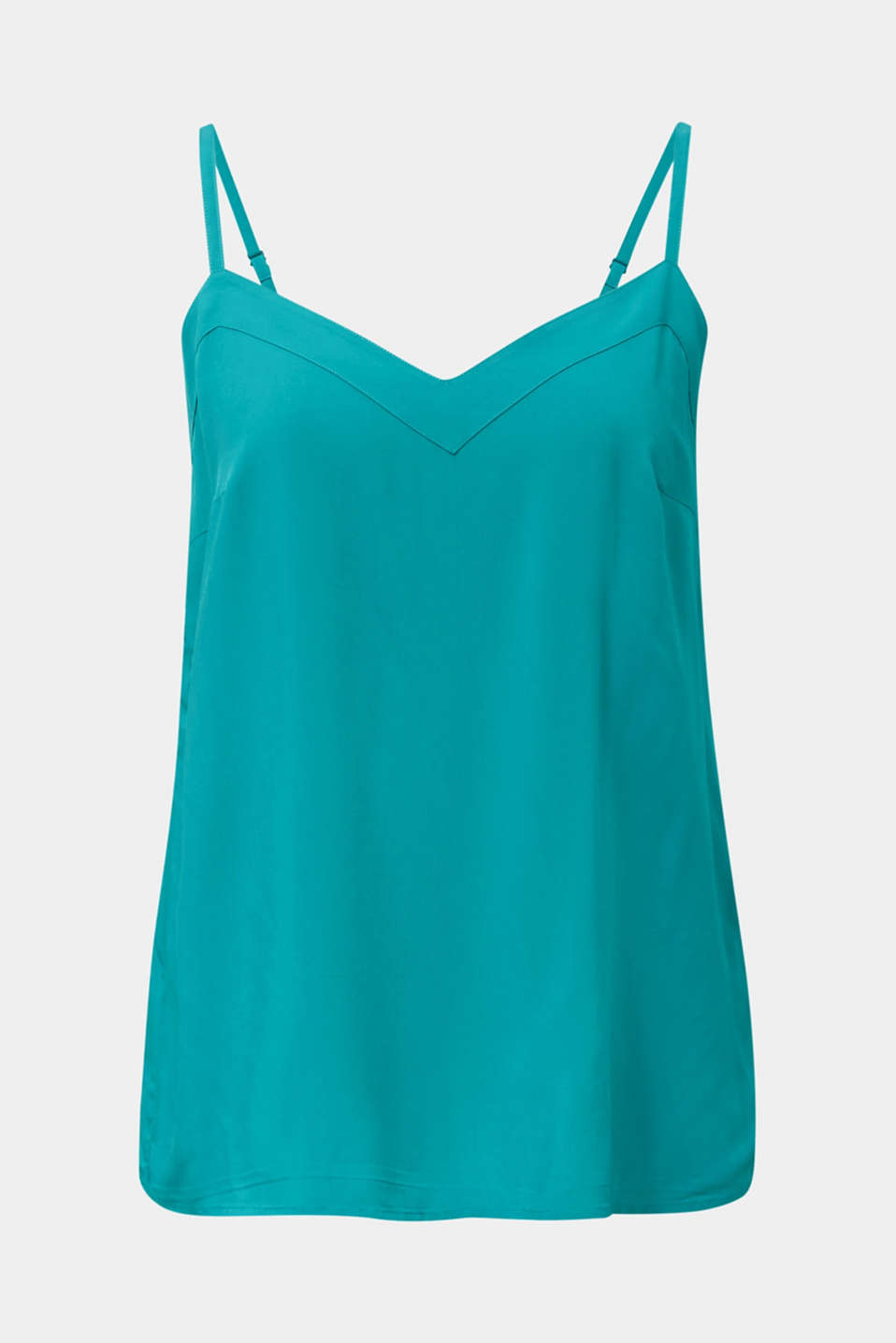 Strappy top made of LENZING™ ECOVERO™, TEAL GREEN, detail image number 6