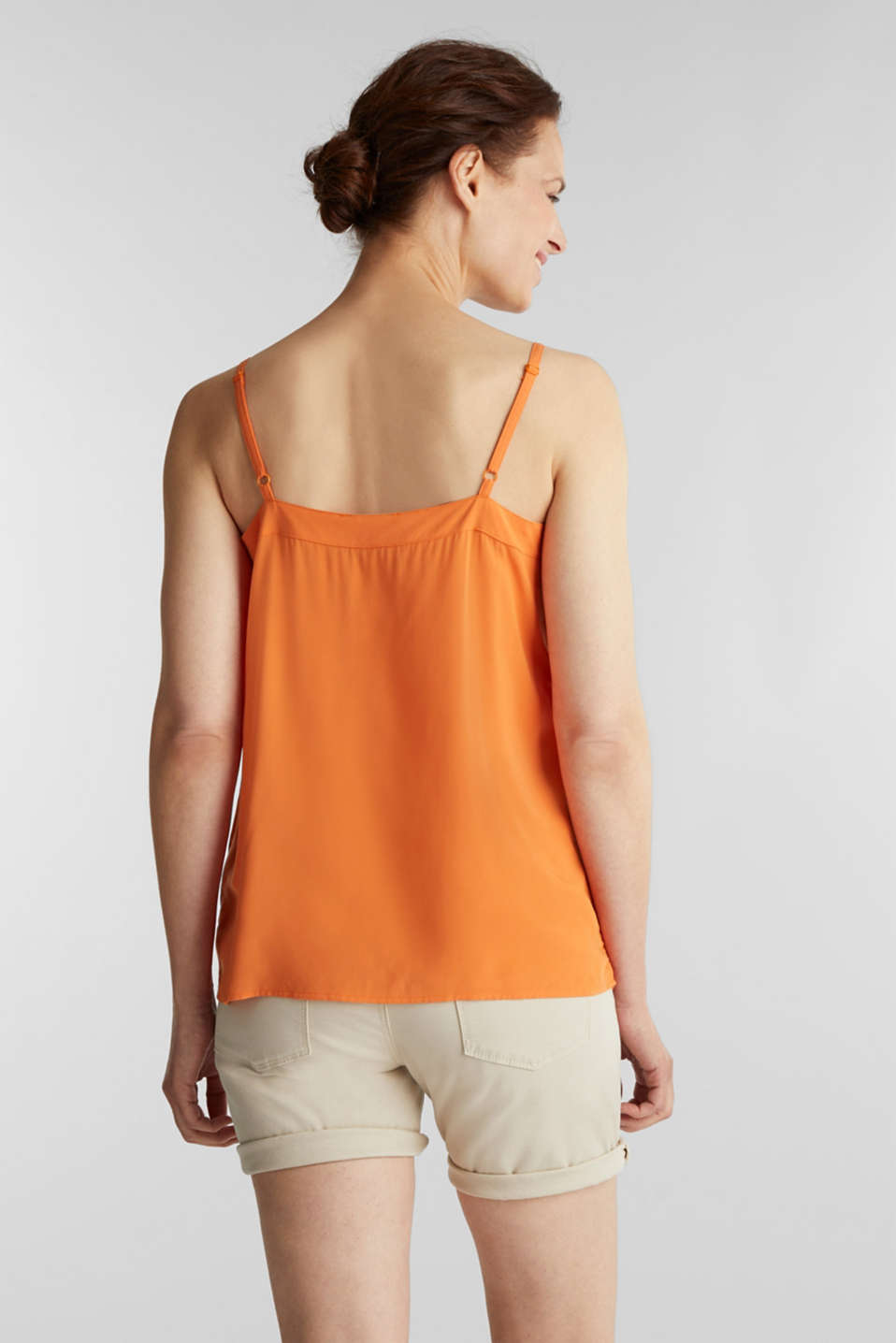 Strappy top made of LENZING™ ECOVERO™, RUST ORANGE, detail image number 3