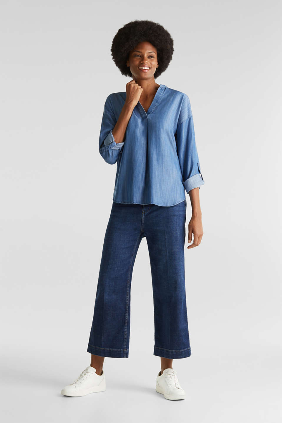 Esprit - Van TENCEL™: denim blouse