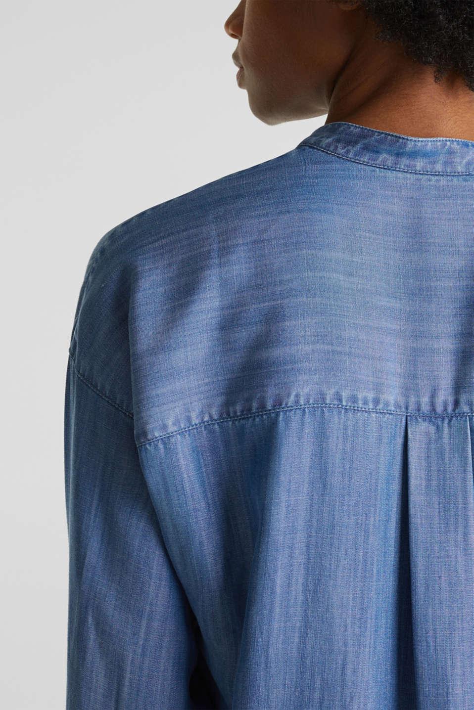 Made of TENCEL™: denim blouse, BLUE LIGHT WASH, detail image number 2