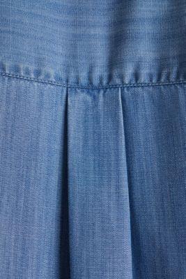 Made of TENCEL™: denim blouse, BLUE LIGHT WASH, detail