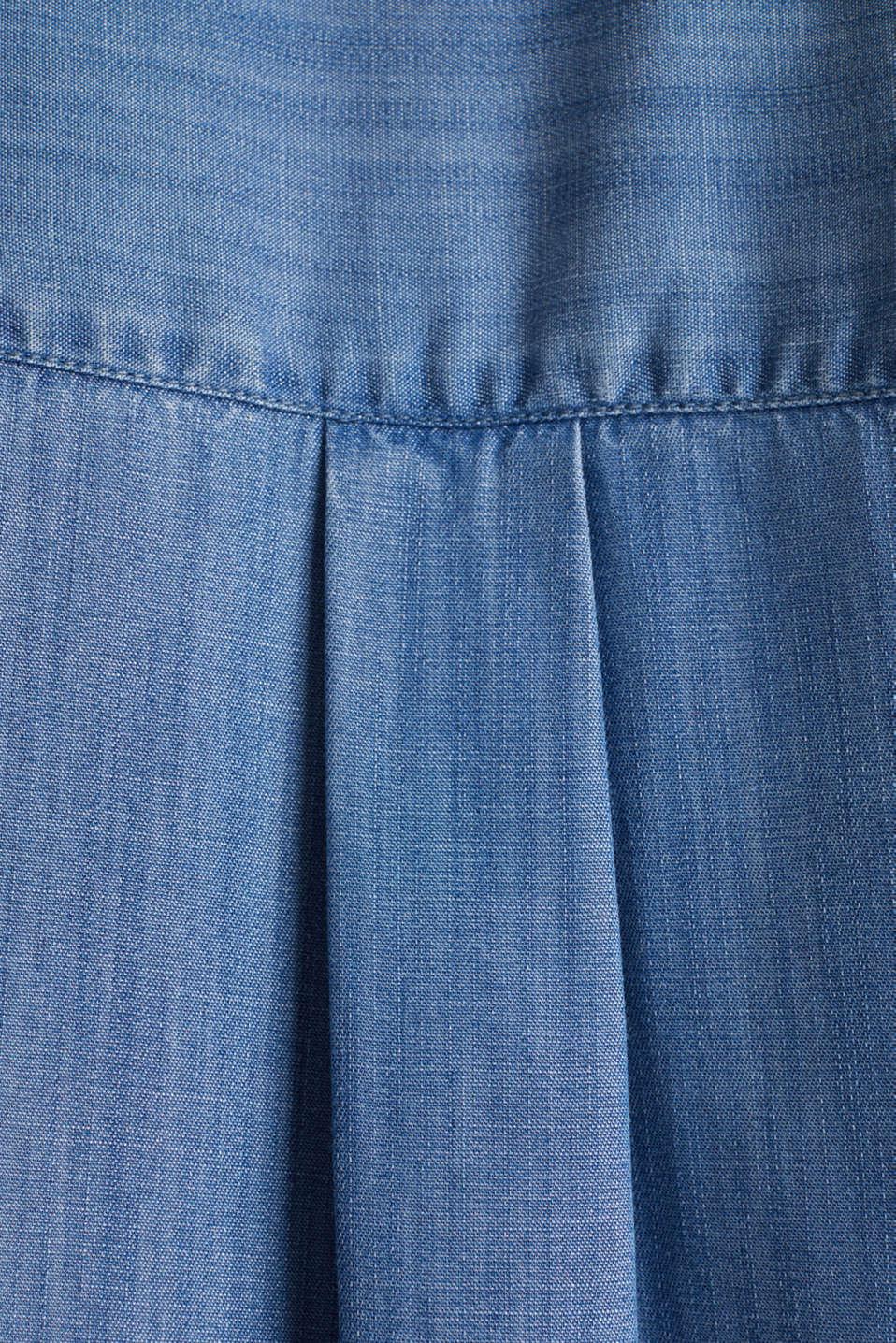 Made of TENCEL™: denim blouse, BLUE LIGHT WASH, detail image number 4