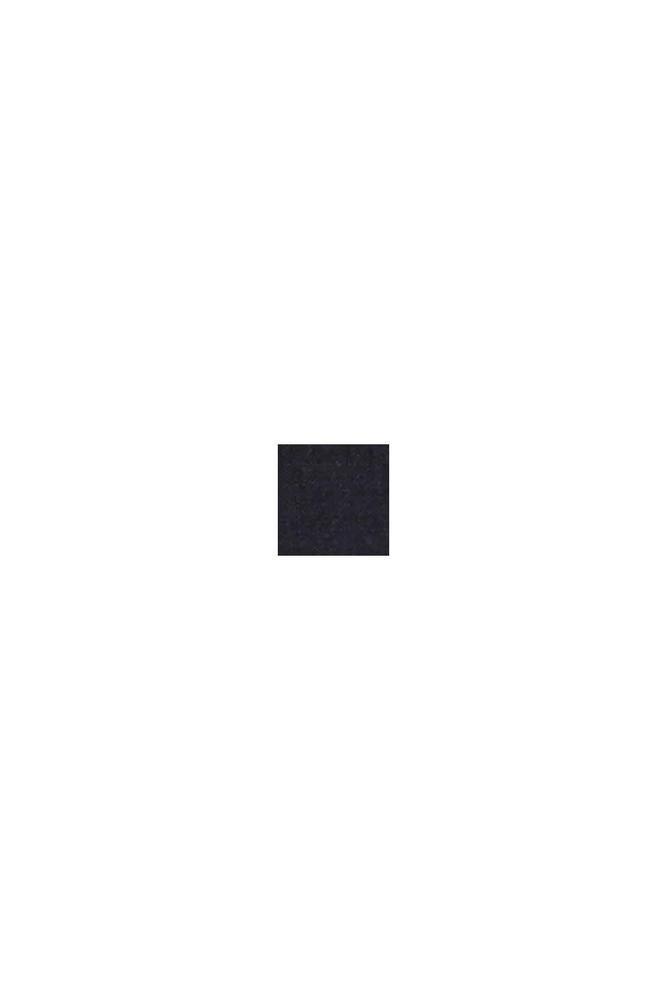 En mezcla de lino: blusa con tira de botones, BLACK, swatch