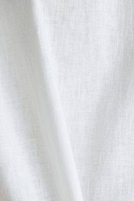 Blended linen blouse with a button placket, WHITE, detail