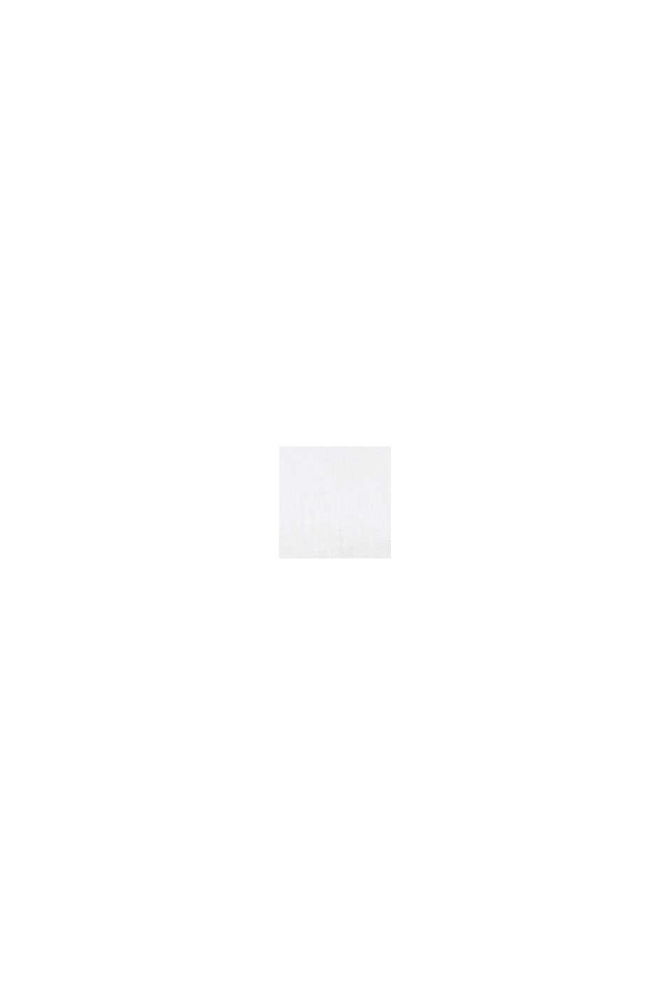 En mezcla de lino: blusa con tira de botones, WHITE, swatch