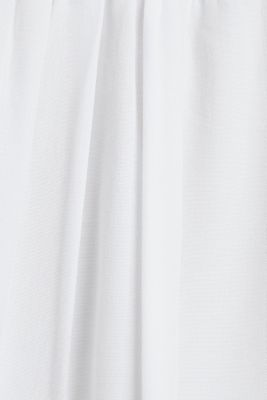 Blouse with frills and smocked details, WHITE, detail