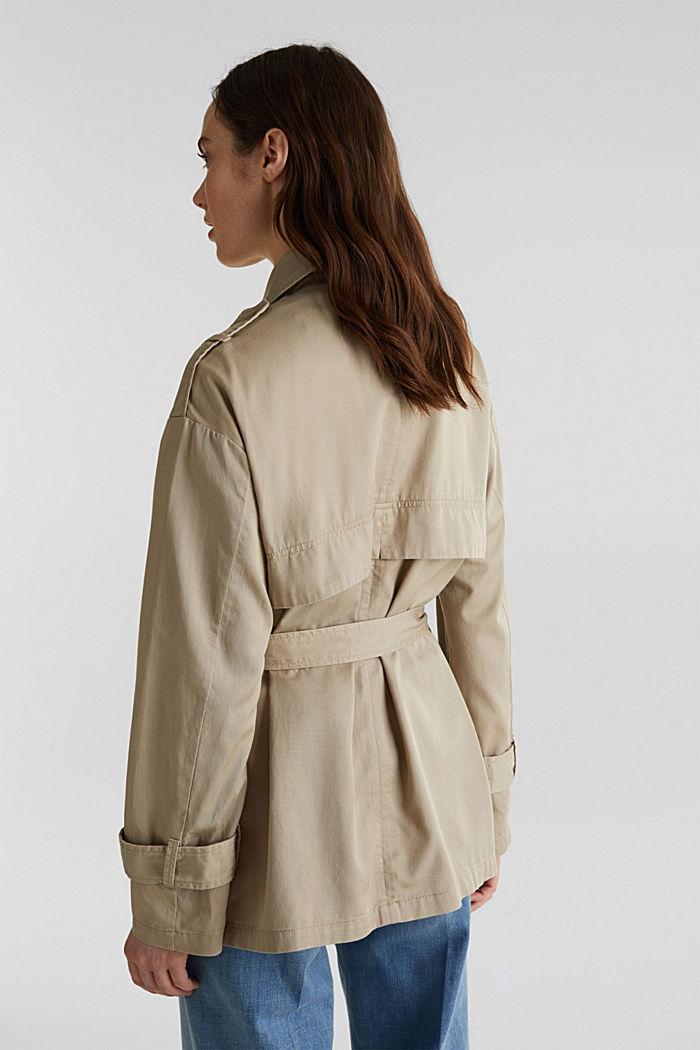 Lyocell blend utility jacket, BEIGE, detail image number 3