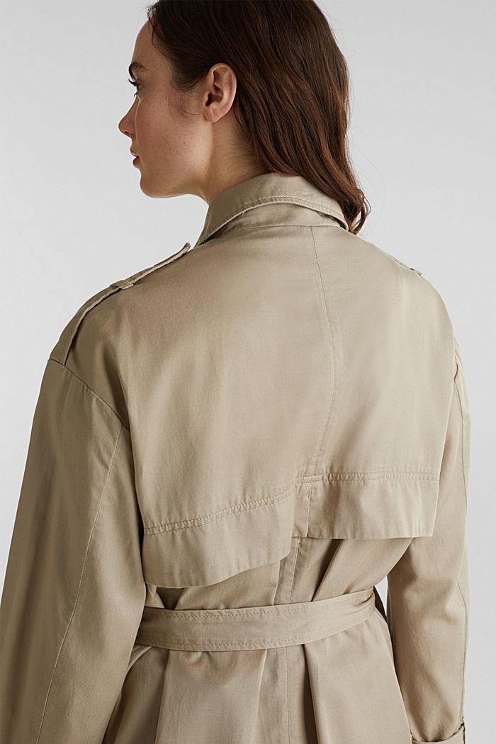 Lyocell blend utility jacket, BEIGE, detail image number 6