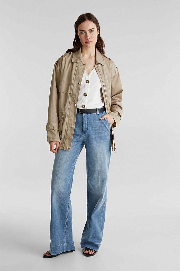 Lyocell blend utility jacket, BEIGE, detail image number 1