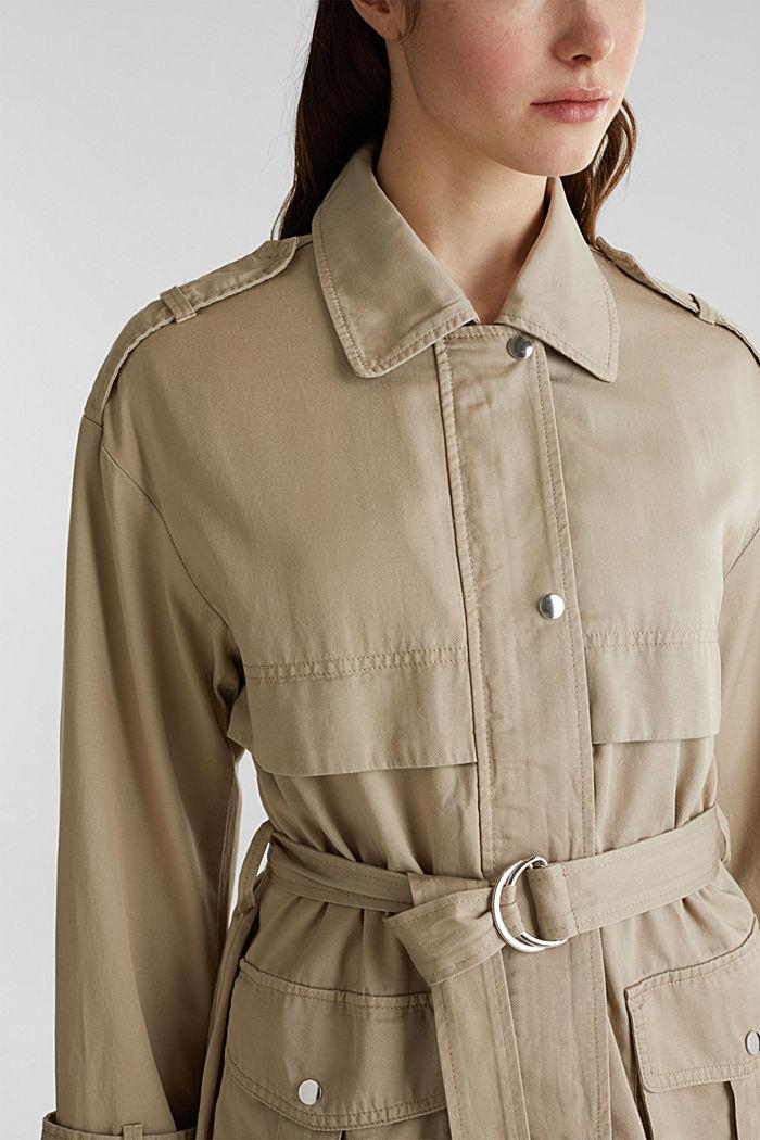 Lyocell blend utility jacket, BEIGE, detail image number 2