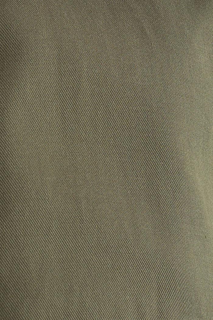 Chaqueta de estilo militar realizada en mezcla de lyocell, DARK KHAKI, detail image number 4