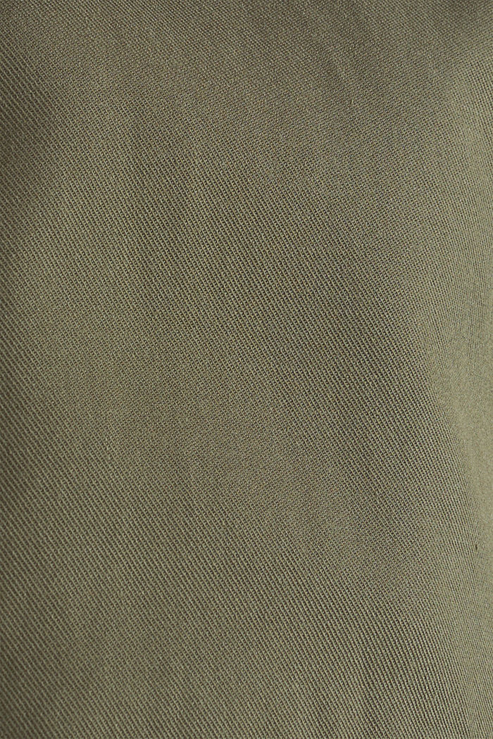 Lyocell blend utility jacket, DARK KHAKI, detail image number 4