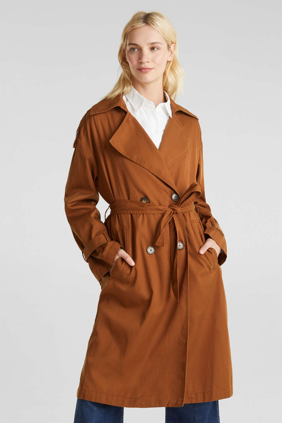 Esprit - Trench casual in misto lyocell