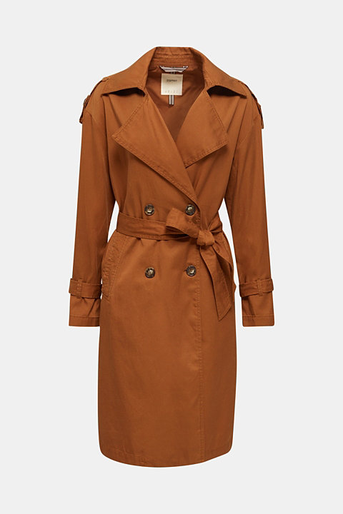 Casual trench coat made of blended lyocell
