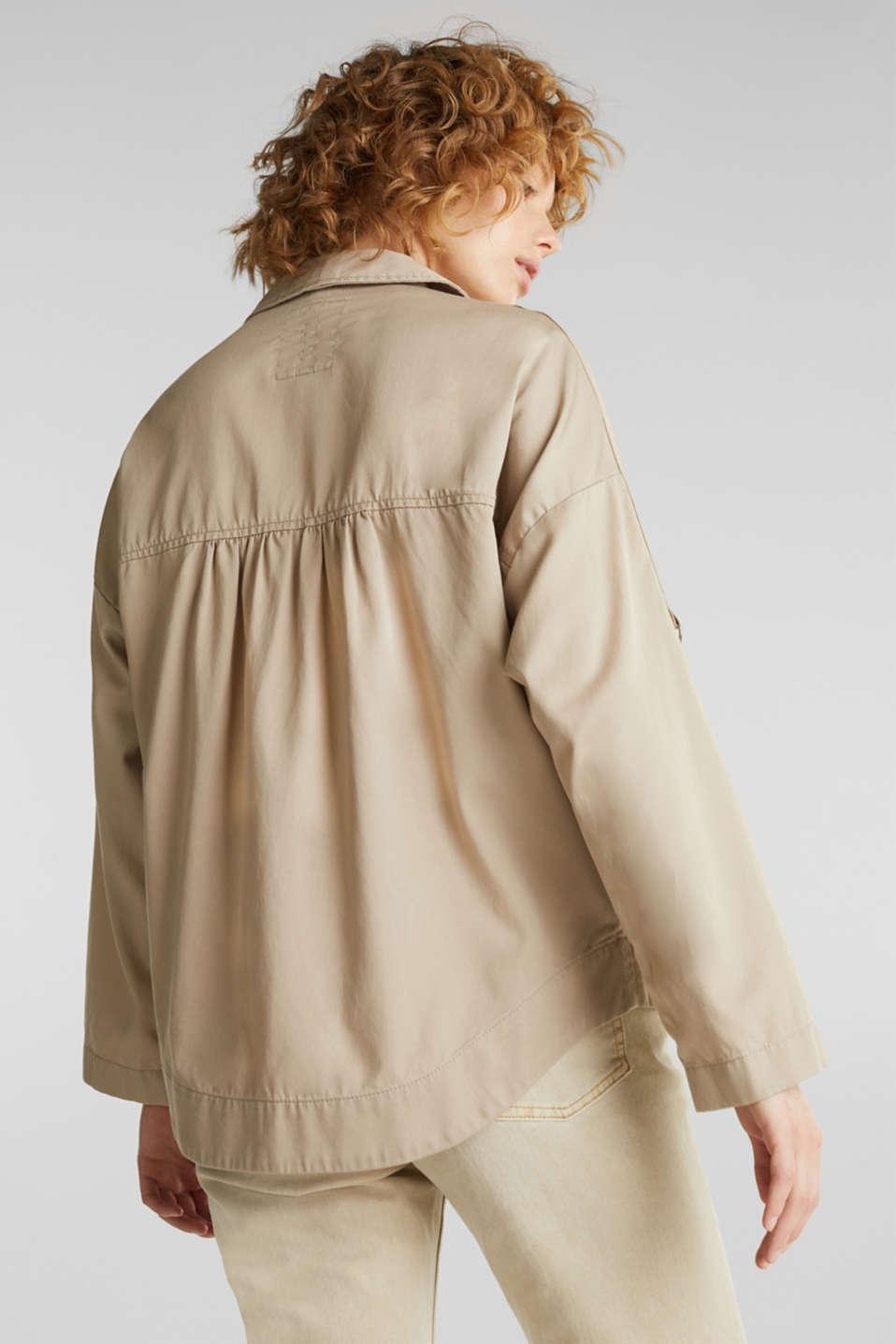 Utility-style shirt jacket, BEIGE, detail image number 3