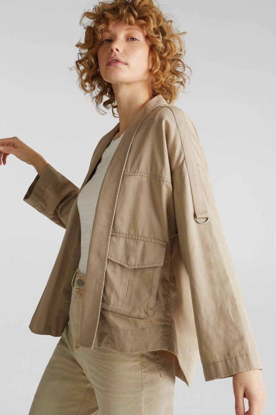 Utility-style shirt jacket, BEIGE, detail image number 5