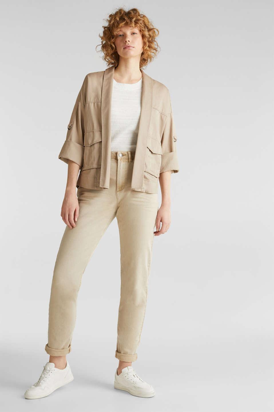 Utility-style shirt jacket, BEIGE, detail image number 1