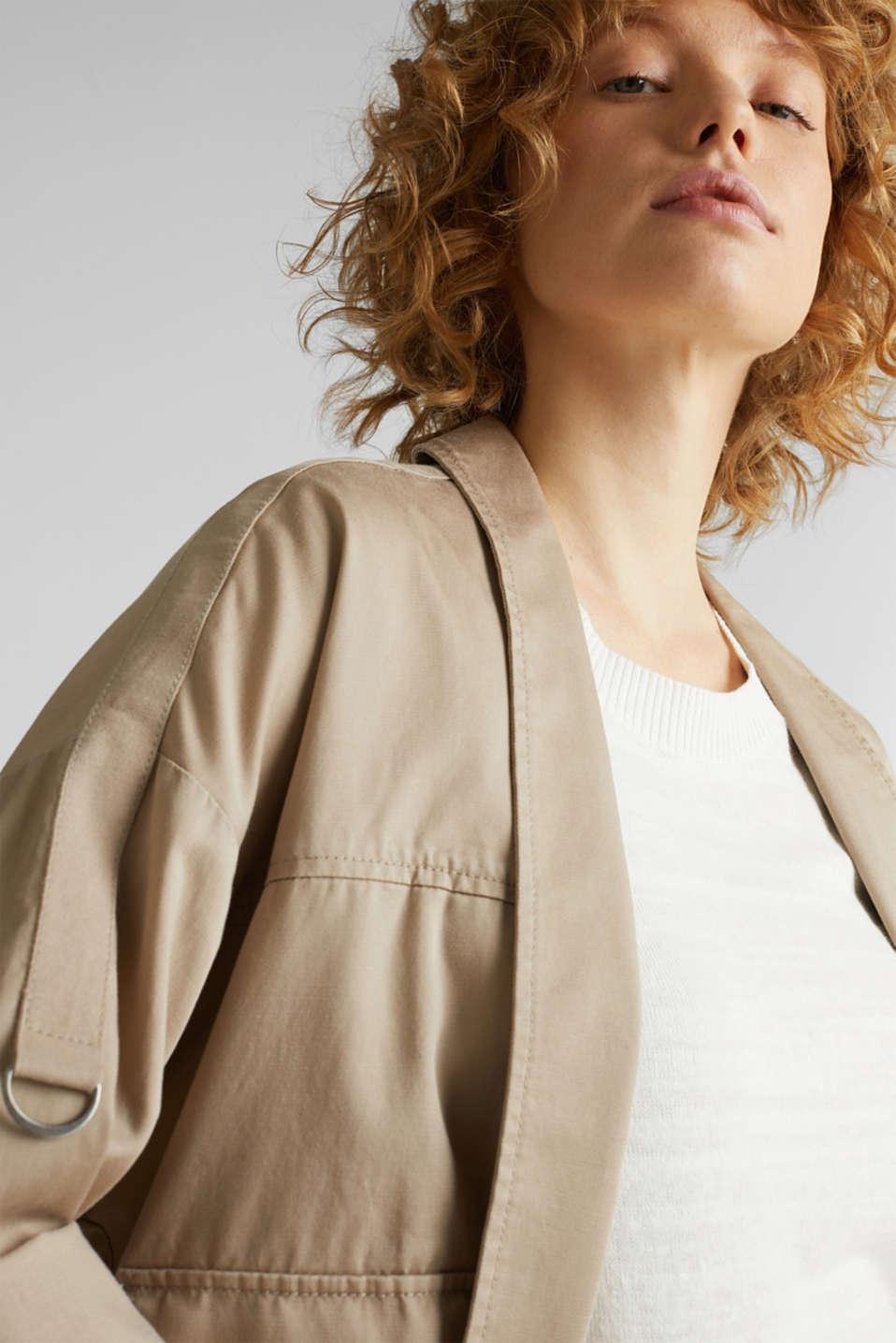 Utility-style shirt jacket, BEIGE, detail image number 2