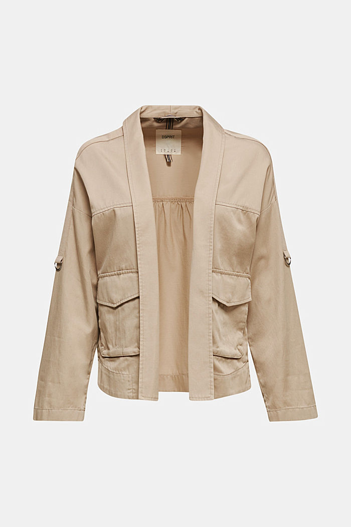 Utility-style shirt jacket, BEIGE, overview