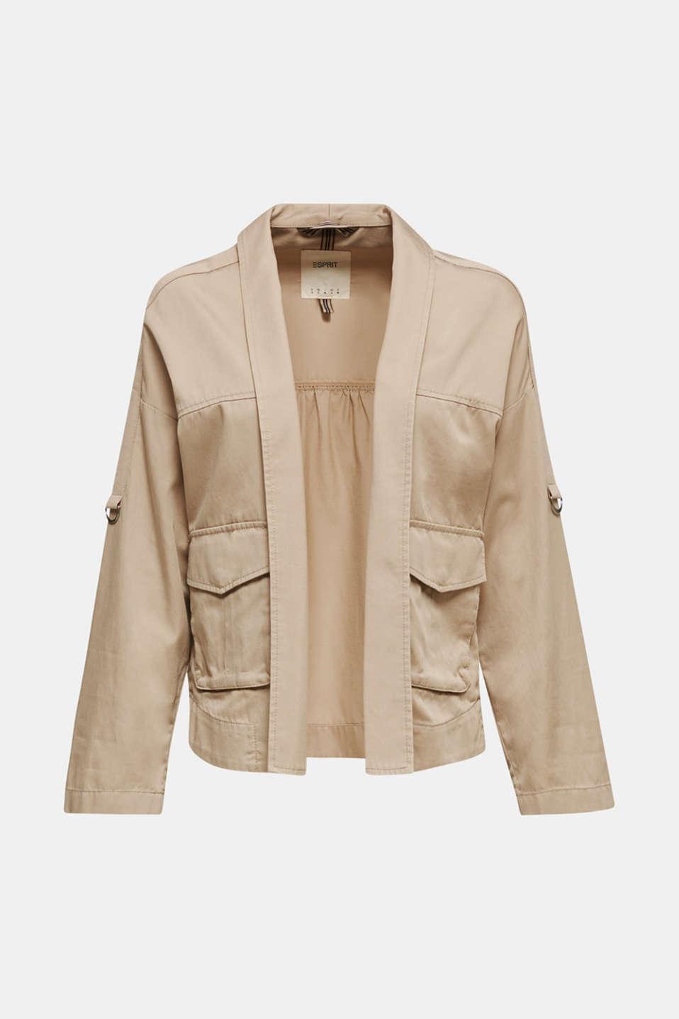 Utility-style shirt jacket, BEIGE, detail image number 6