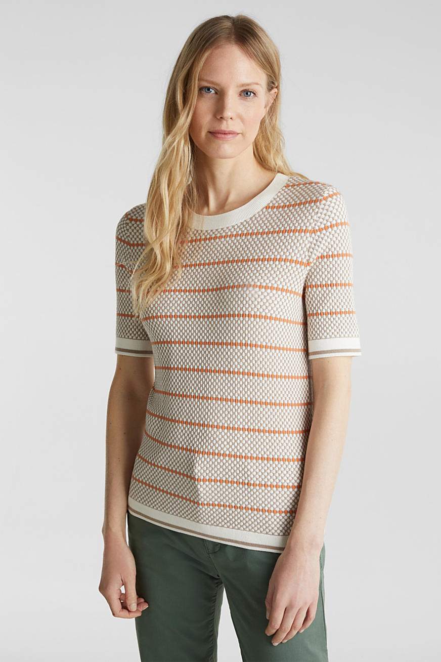 Short sleeve jumper with LENZING™ ECOVERO™