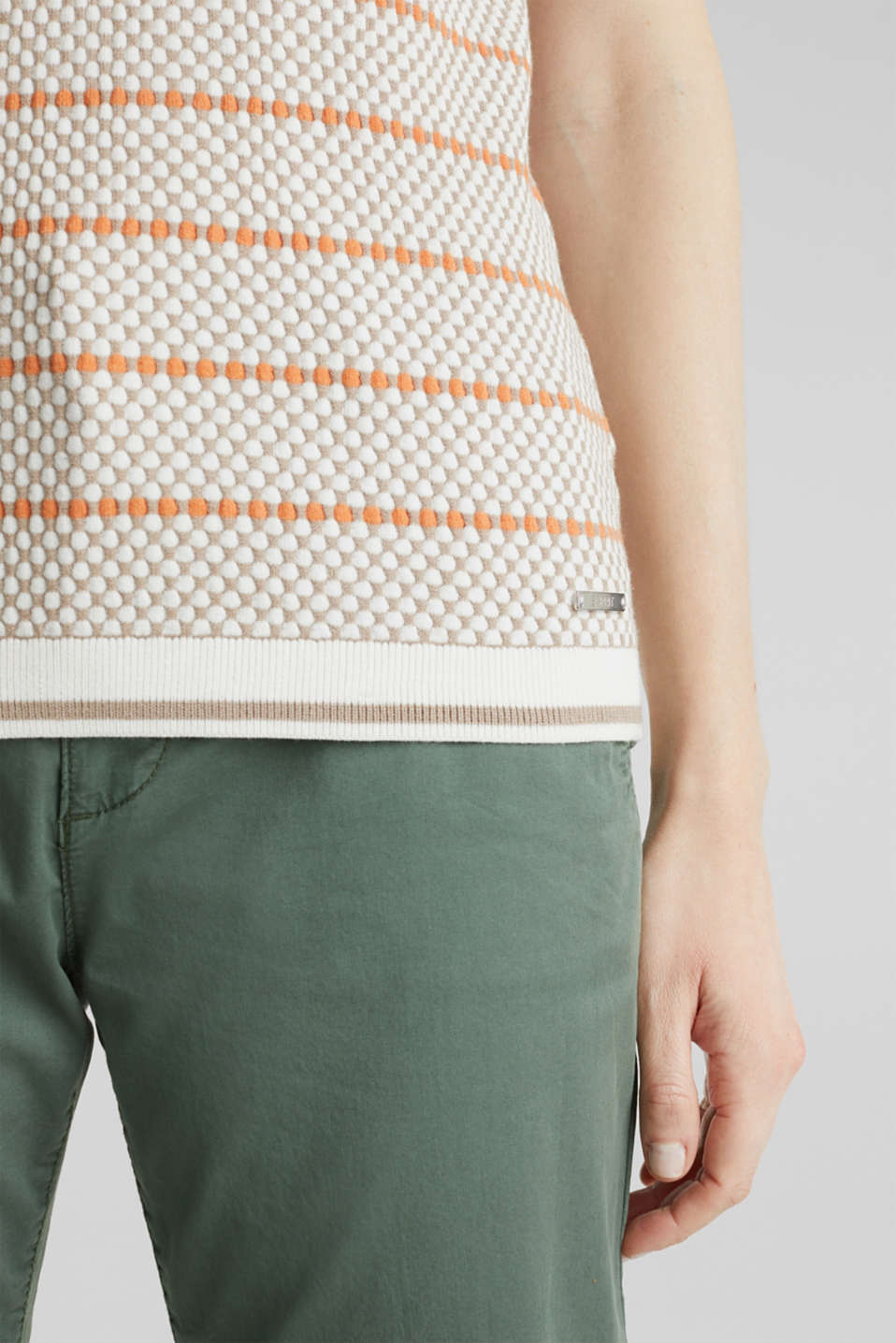 Short sleeve jumper with LENZING™ ECOVERO™, OFF WHITE 4, detail image number 5