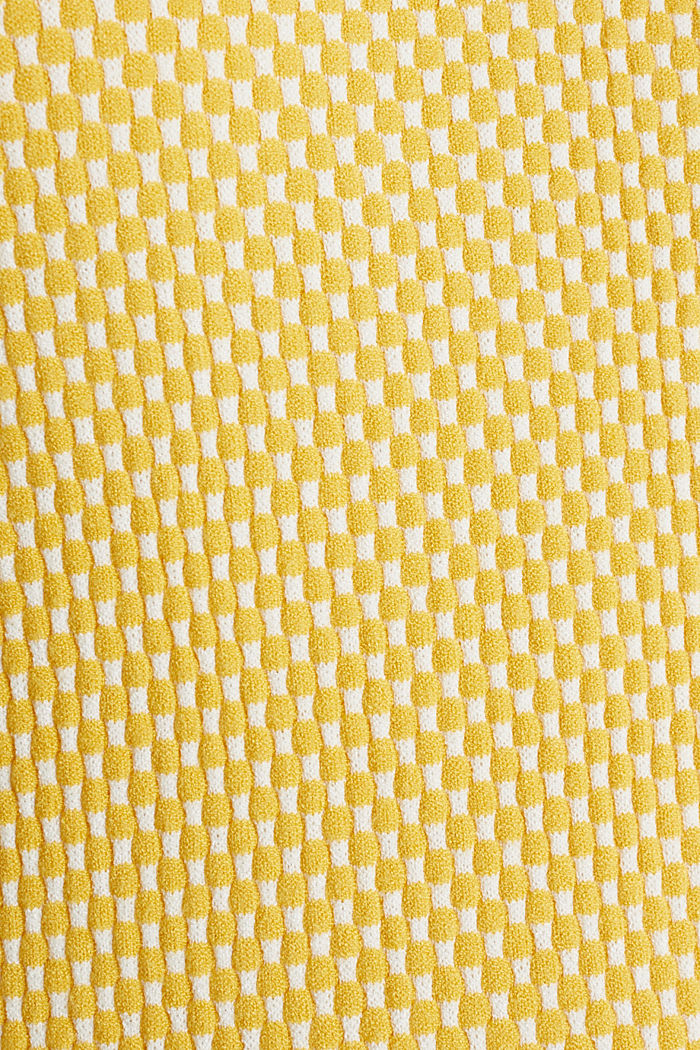 Short sleeve jumper with LENZING™ ECOVERO™, YELLOW, detail image number 4