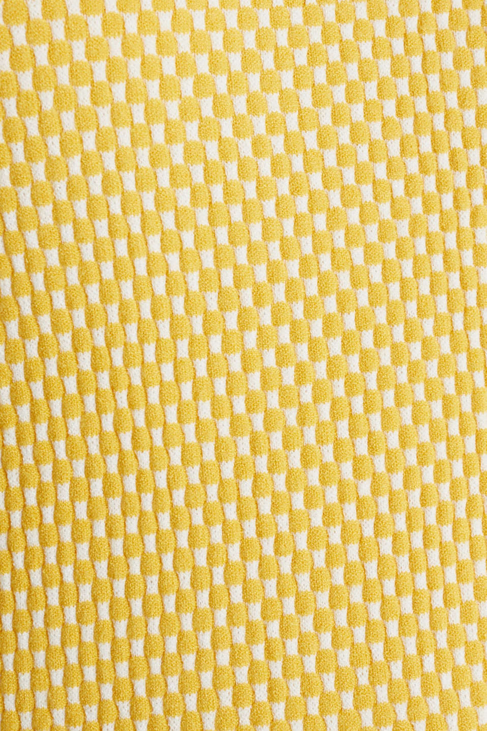 Short sleeve jumper with LENZING™ ECOVERO™, YELLOW 4, detail image number 4