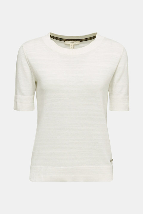 With linen: Short-sleeved jumper