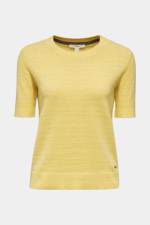 With linen: Short-sleeved jumper