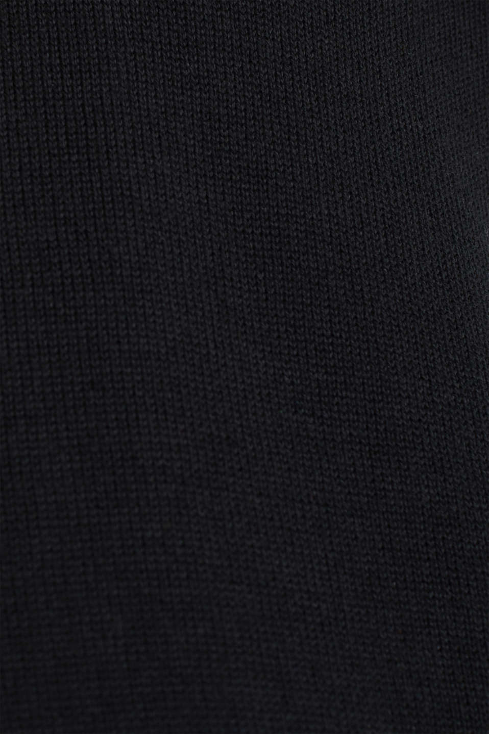 Cardigan with open-work pattern details, BLACK, detail image number 4