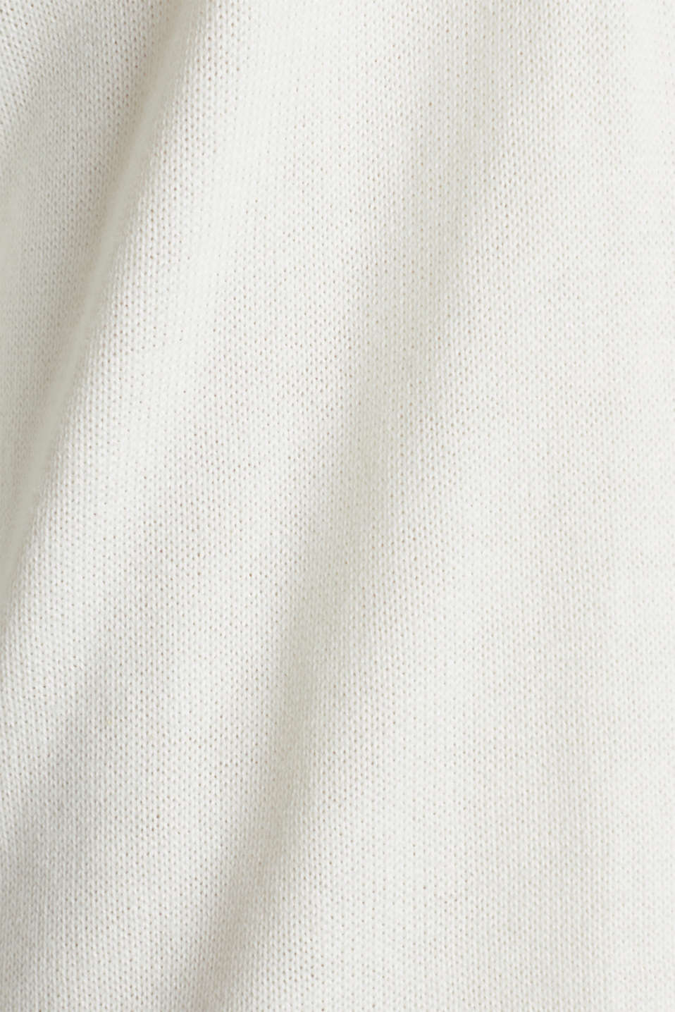 Cardigan with open-work pattern details, OFF WHITE, detail image number 4