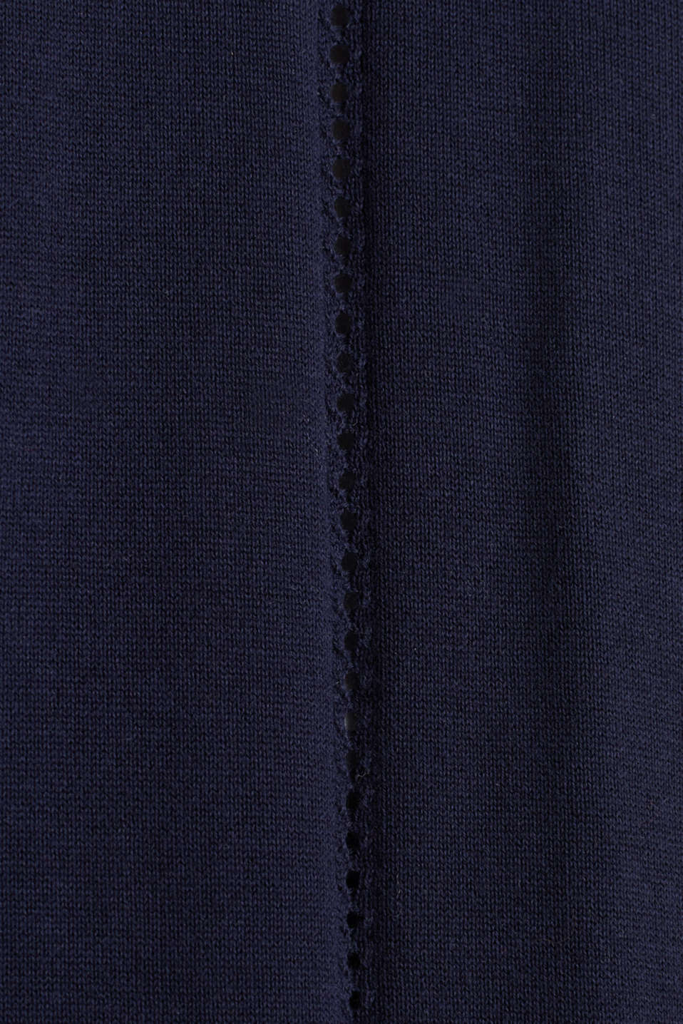 Cardigan with open-work pattern details, NAVY, detail image number 4