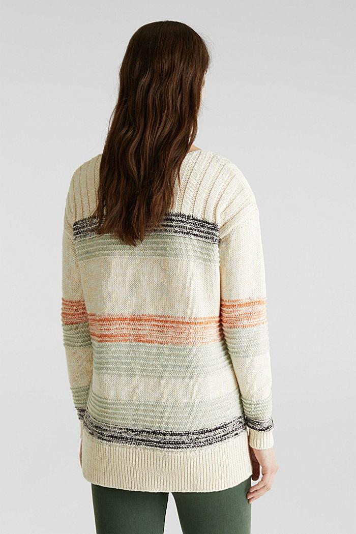 Textured jumper, 100% cotton, LIGHT AQUA GREEN, detail image number 2