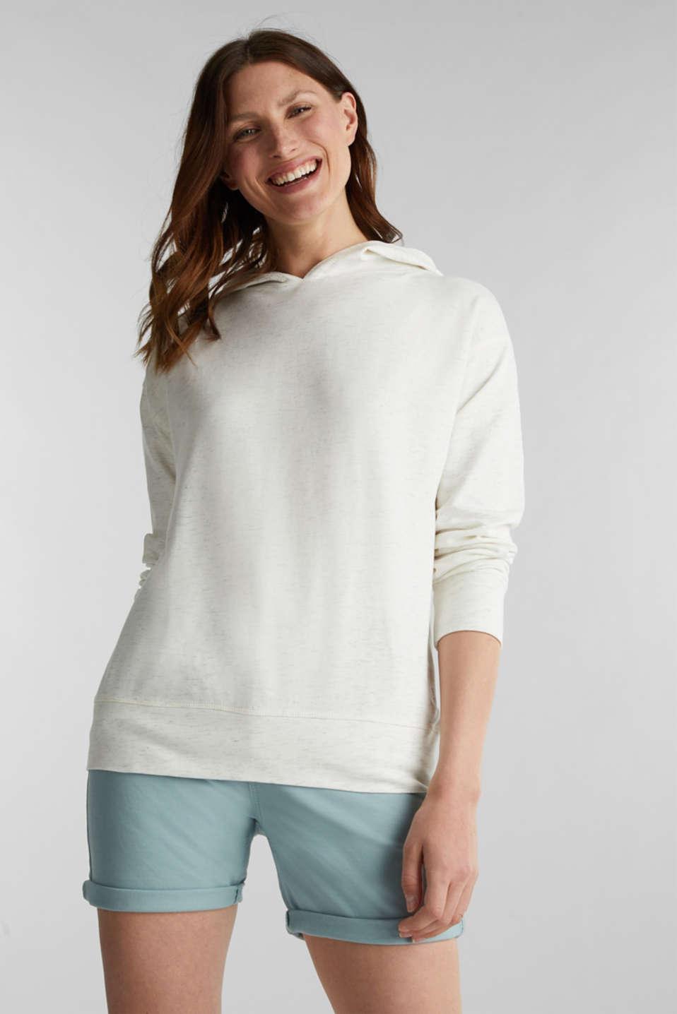 Mottled sweatshirt hoodie, ICE 4, detail image number 0