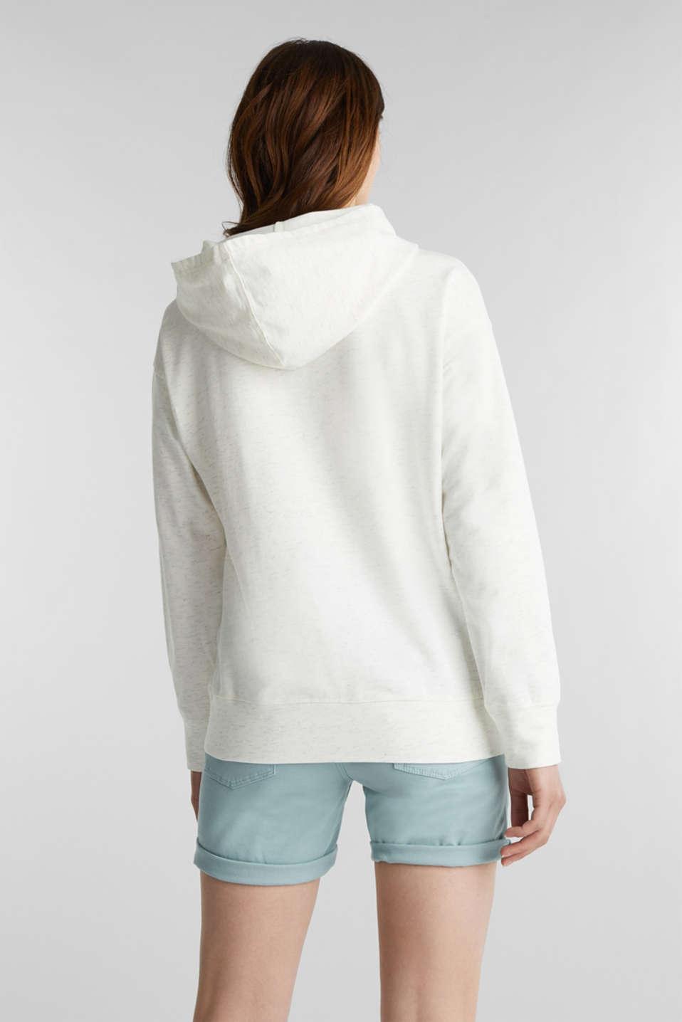 Mottled sweatshirt hoodie, ICE 4, detail image number 2
