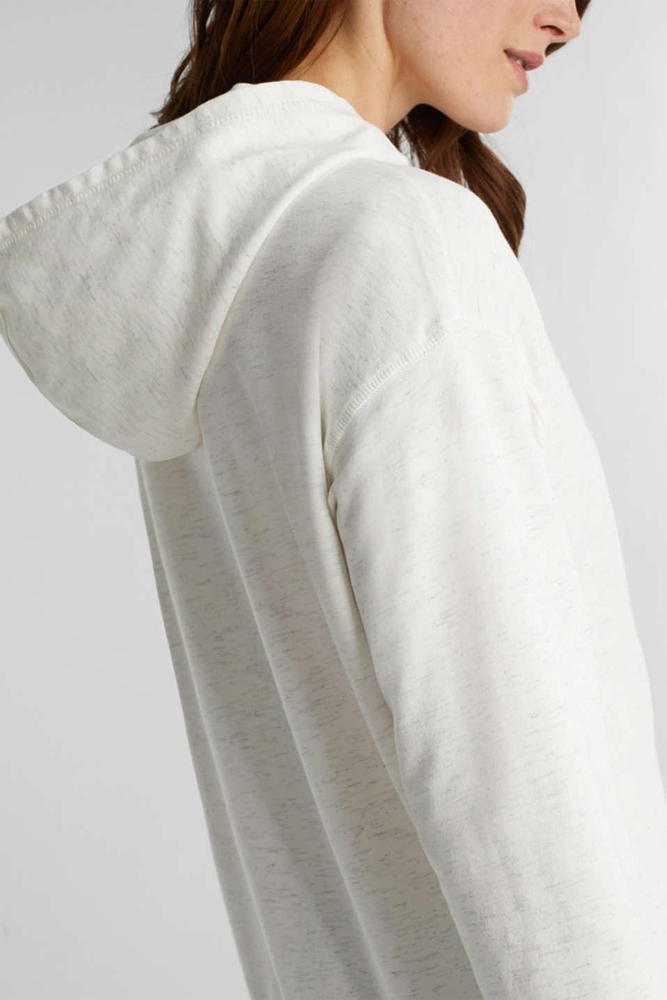 Mottled sweatshirt hoodie, ICE 4, detail image number 4
