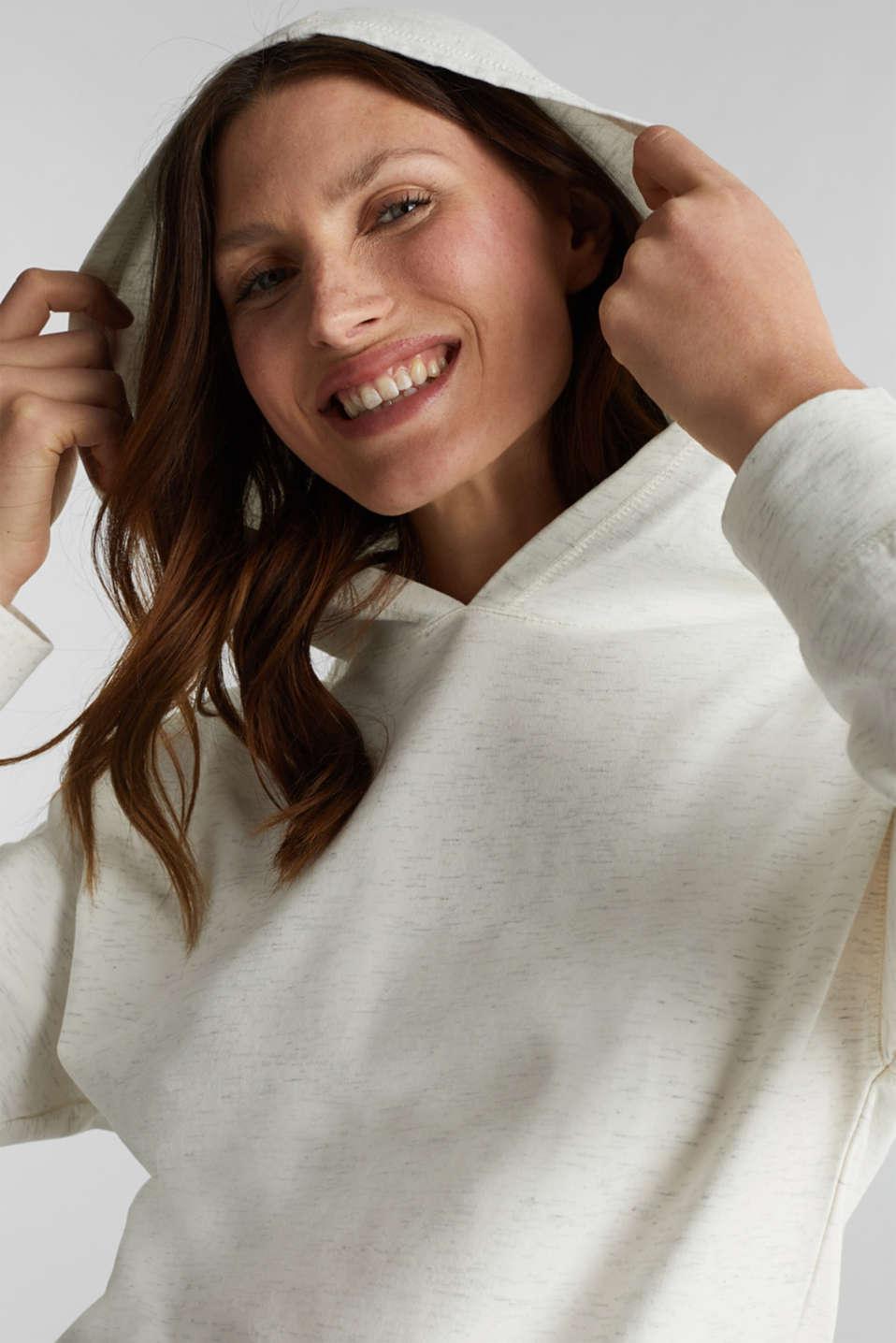 Mottled sweatshirt hoodie, ICE 4, detail image number 5