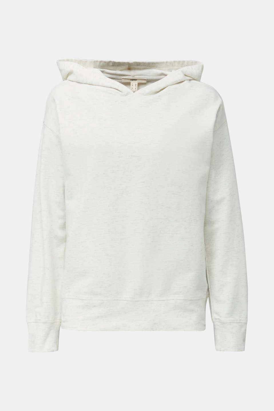 Mottled sweatshirt hoodie, ICE 4, detail image number 6