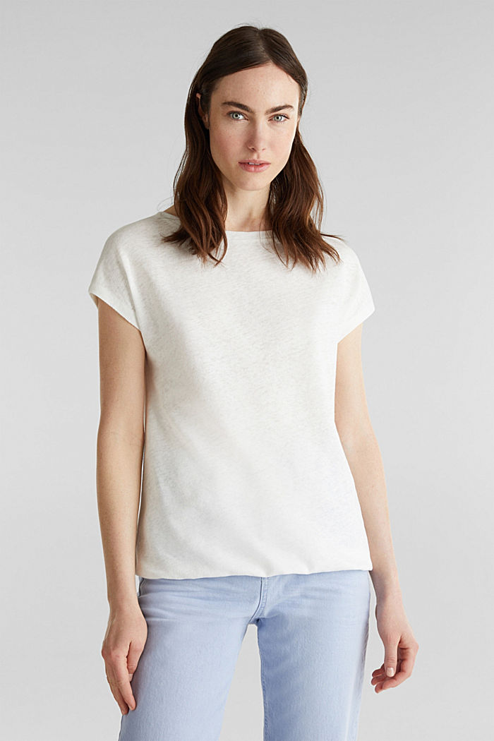 Linen blend: Stretchy top