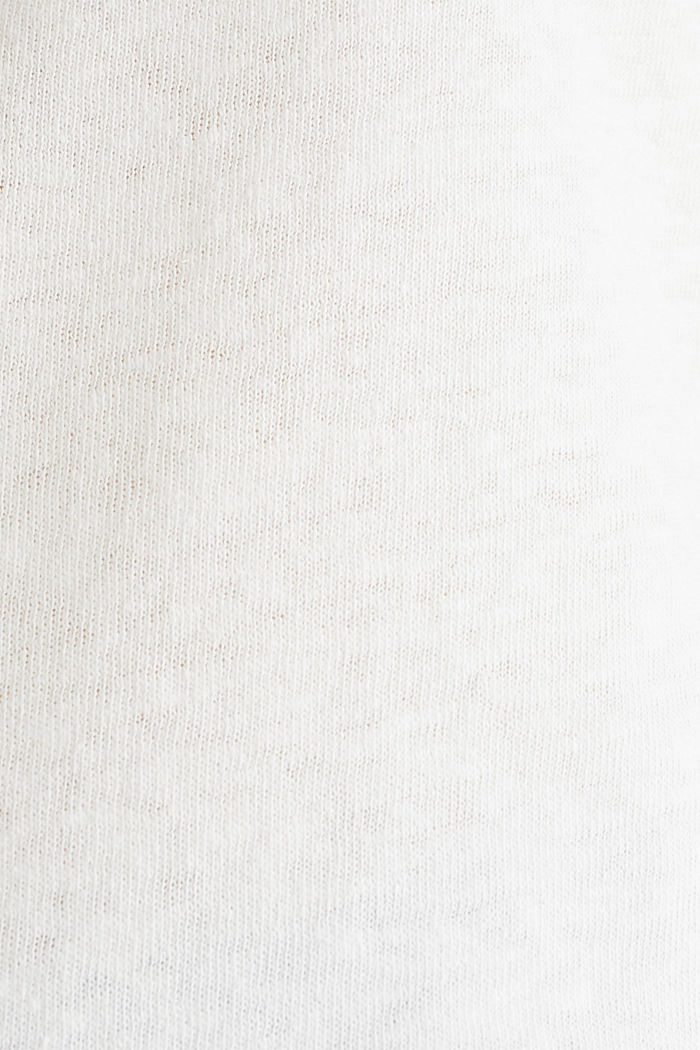 Linen blend: Stretchy top, OFF WHITE, detail image number 4