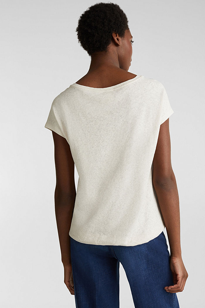 Linen blend: Stretchy top, SAND, detail image number 3