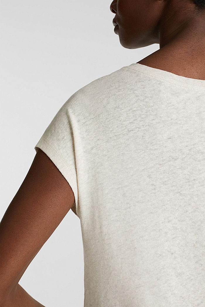 Linen blend: Stretchy top, SAND, detail image number 2