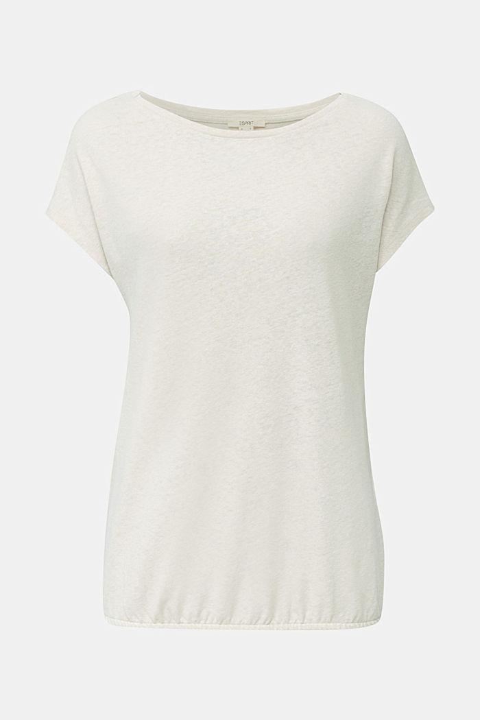 Linen blend: Stretchy top, SAND, detail image number 7