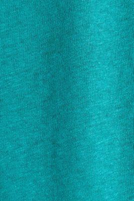 Linen blend: Stretchy top, TEAL GREEN 4, detail