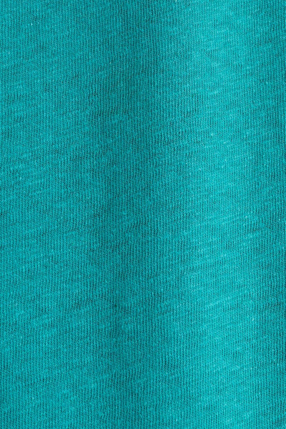 Linen blend: Stretchy top, TEAL GREEN 4, detail image number 4