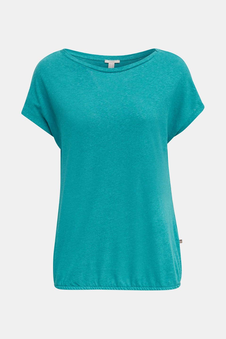 Linen blend: Stretchy top, TEAL GREEN 4, detail image number 6