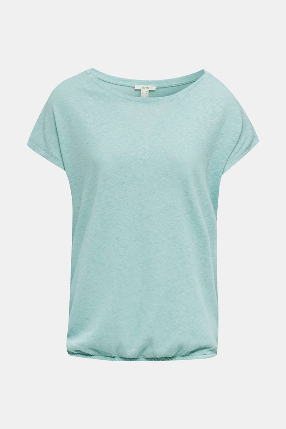 Linen blend: Stretchy top, LIGHT AQUA GREEN 4, detail image number 6