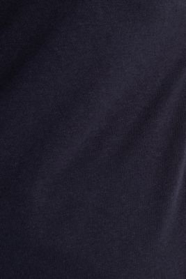 Linen blend: Stretchy top, NAVY, detail